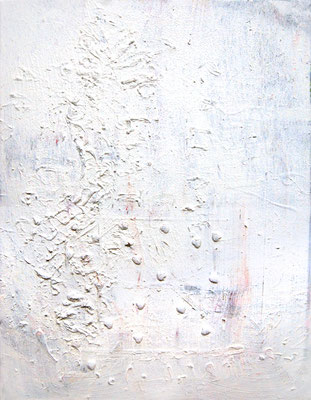 DIE BEINAHEKATASTROPHE BIS ZUM TIEFERN TIEFPUNKT, 2014, mixed media on canvas, 90x70cm