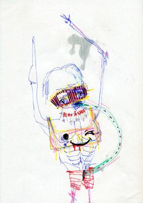 DU BIST SO SCHOEN WENN DU KOTZT, 2012, mixed media on paper, 29,7x21cm