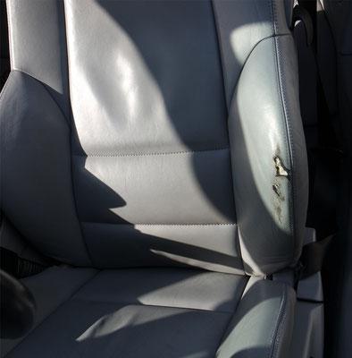 Fahrersitz vor Reparatur