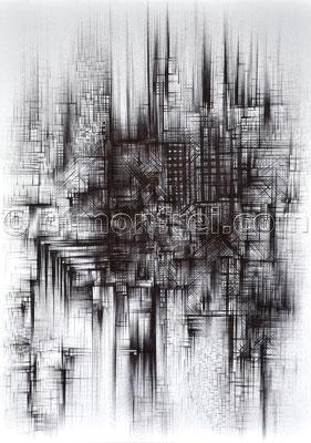 """""""System"""", 29.7 x 21 cm, Kugelschreiber auf Papier, 2003"""