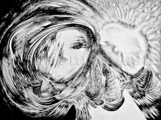 """""""Reflexion"""", 30 x 40 cm, Tusche auf Papier, 2014"""