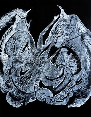 """""""Insomnia"""", 100 x 80 cm, Mischtechnik auf Leinen, 2012"""
