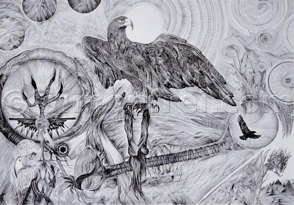 """""""providentia"""", 29.7 x 42 cm, Kugelschreiber auf Papier, 2010"""