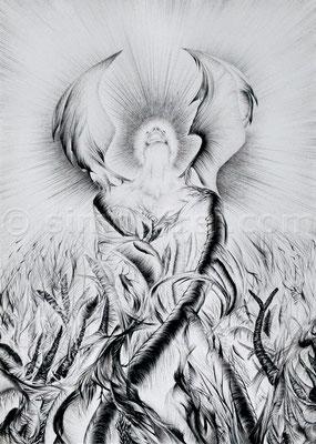 """""""Der Schrei"""", 29.7 x 21 cm, Kugelschreiber auf Papier, 2008"""
