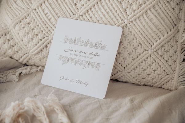 Save the date Karte Boho Hochzeit