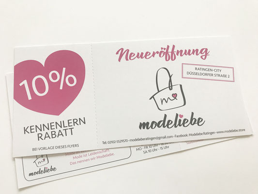 Flyer Modeboutique Ratingen