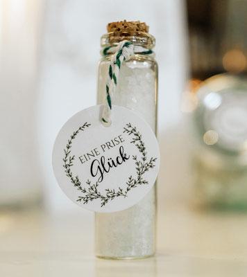 Gastgeschenk Greenery Hochzeit