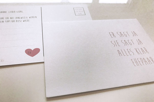 Hochzeit Postkarte