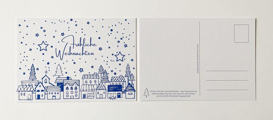 Weihnachtspostkarte GründerMütter