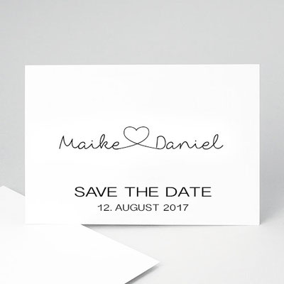 save the date Hochzeit Logo