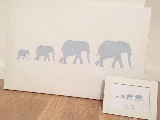 Leinwand Elefanten