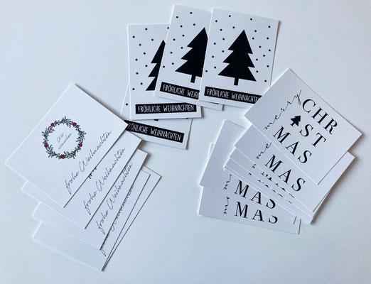 Weihnachtspostkarte Set
