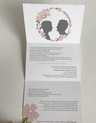Hochzeitseinladung mit Logo