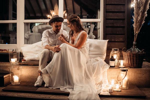 Boho Hochzeit personalisierte Prosecco Flasche