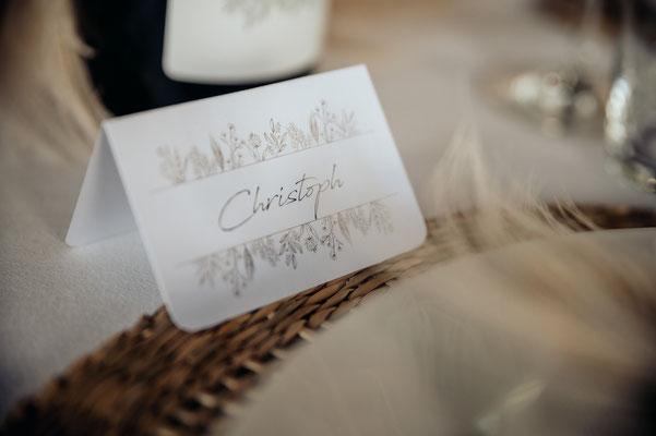 Namenskarte Boho Hochzeit