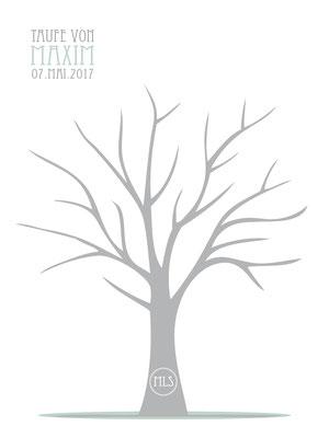 Gästebild Fingerabdrücke Taufe Hochzeit Logo