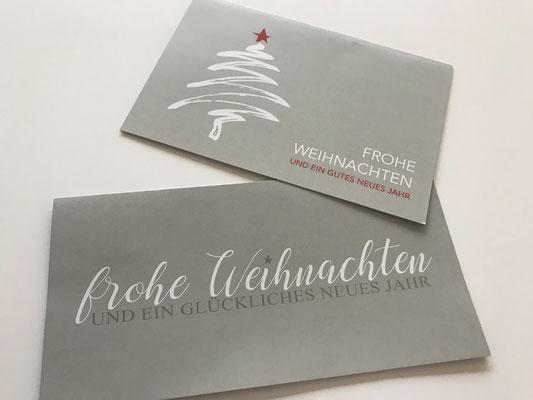 Weihnachtskarte formell