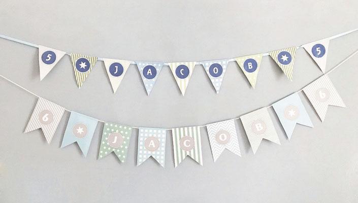 Girlanden personalisiert Geburtstag