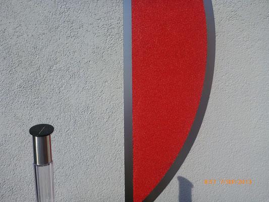 Buntsteiputz Rot (Sonderanfertigung UV-Stabil)