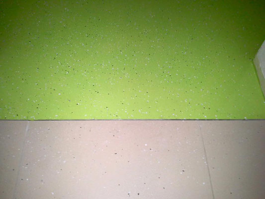 Industrieboden-Beschichtung Grün in Garage