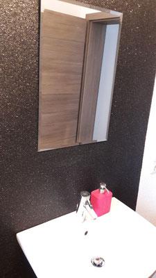 Spiegeleffektputz Schwarz