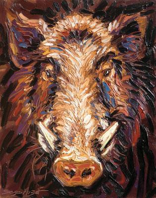 Sanglier - Huile sur toile - 73 x 92 cm - 2010