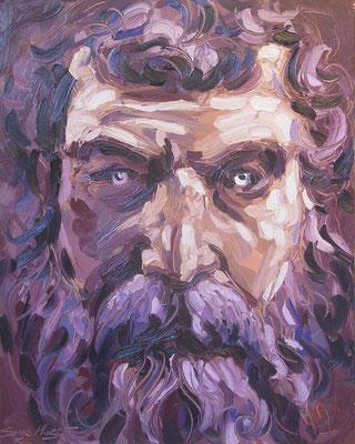 Philosophe - Huile sur toile - 73 x 92 cm - 2010