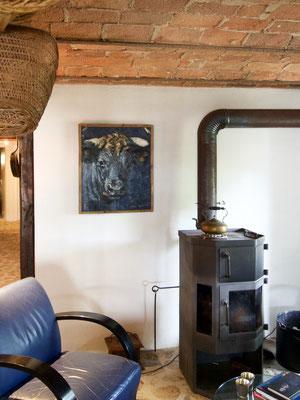Taureau gris/bleu - collection particulière