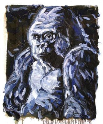Platon, Gorille - Huile sur toile - 90 x 110 cm - 2010