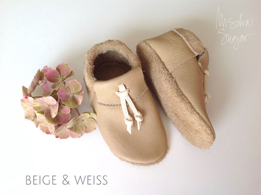 Moccs Knots in beige & weiß