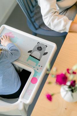 Aufkleber Bär für IKEA Hochstuhl Hack ANTILOP