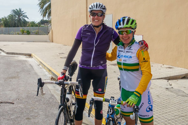 Riding with Amanda Spratt from Orica Green Edge