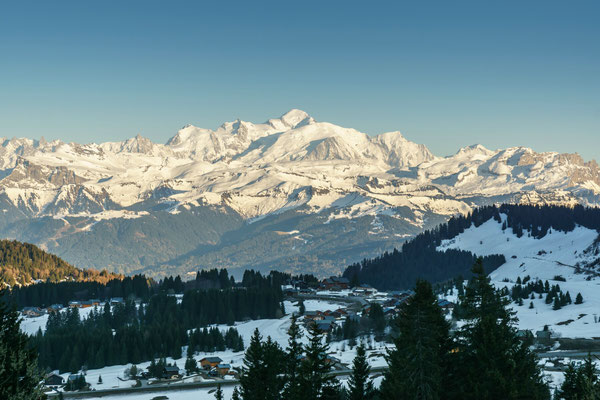 View to the Mont blanc from La Ramaz