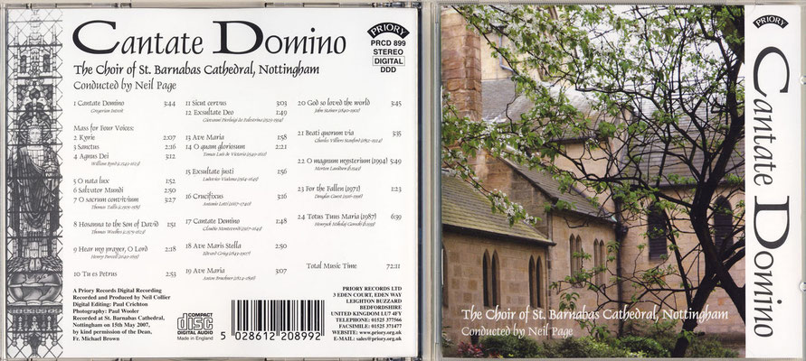 1st CD of St Barnabas's choir (I did cover and booklet)