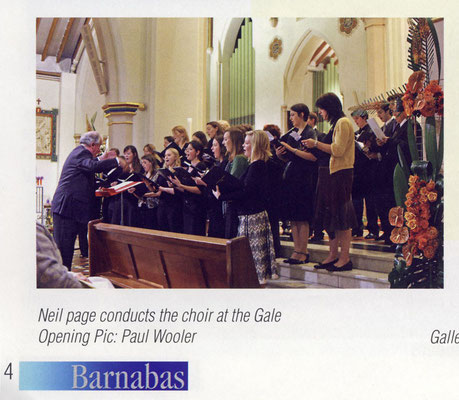 Snippet from Nottingham's St Barnabas Cathedral magazine
