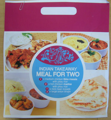 Mock-up of an Asda meal bag, with my photos (fast track process)