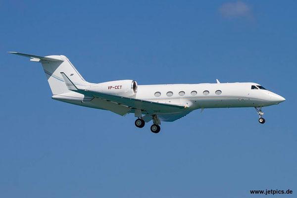 VP-CET, Gulfstream 450