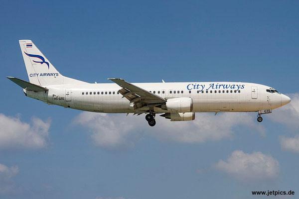 HS-GTE, B737-4H6, City Airways