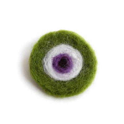 Καρφίτσα μάτι πράσινο (felt) 8 Ευρώ