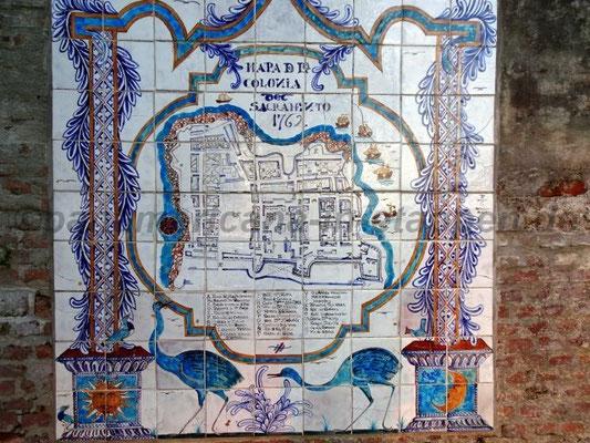 Historischer Kachel- Stadtplan