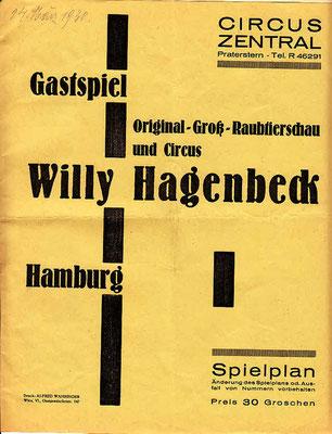 1930 März im Circus Zentral - Wien