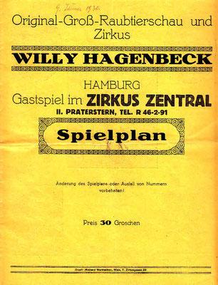 1930 Jänner im Circus Zentral - Wien