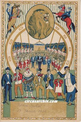 Jänner 1929 - Zoo Zirkus Fischer