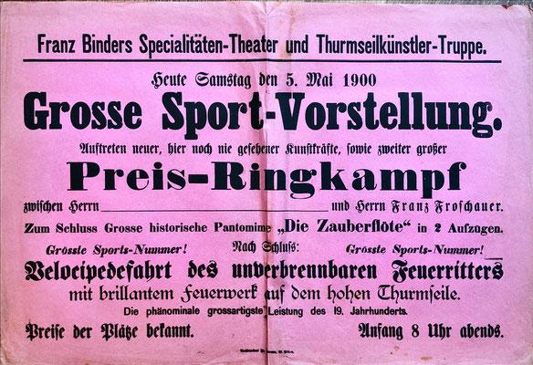 Franz Binder Spezialitäten und Turmseilkünstler - Seiltänzer 1900