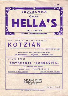 1962 - tournee in italien in kooperation mit walter nones / moira orfei