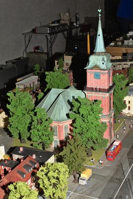 Die zweitplatzierte Anlage des Modellbau Verein Schwerin zeigte Hausbau nach Schweriner Vorbildern.