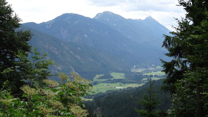 Rückweg von der Alm nach Weissbriach