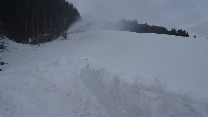 Skipisten in Weissbriach