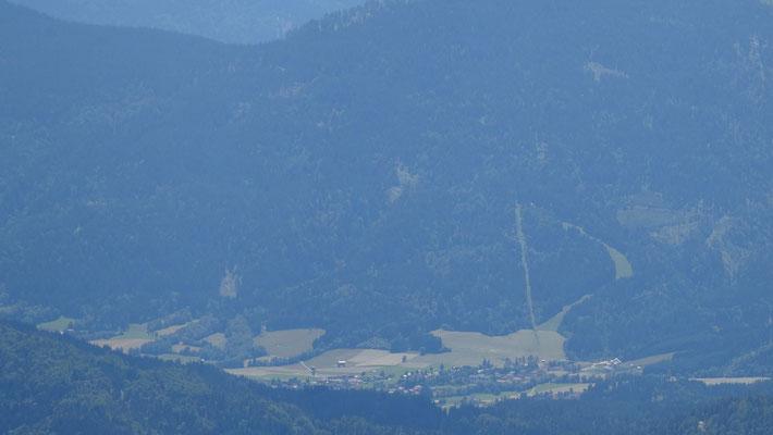 Blick nach Weissbriach (zoom mit guter Kamera)