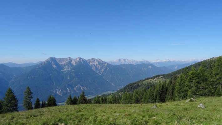 schönes Panorama beim Aufstieg